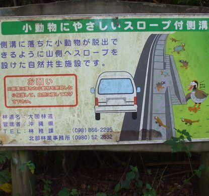 野生小動物保護の側溝の看板.JPG